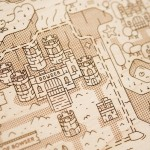 Laser-etched wooden Super Mario World map is perfect for any wall!