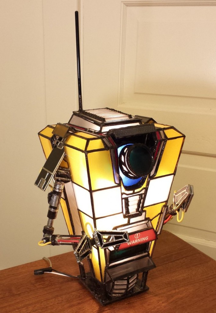 Claptrap stained glass lamp