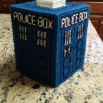 Crafted TARDIS Tissue Box Cover