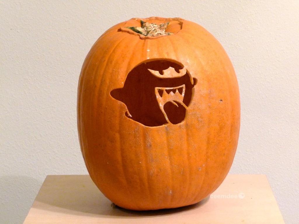 Super Mario Boo Pumpkin Carving