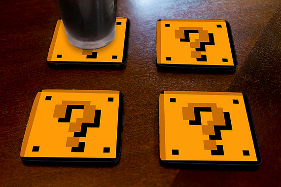 Super Mario Question Block Coasters