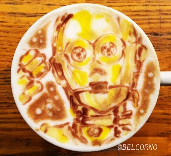 C-3PO Star Wars Latte Art