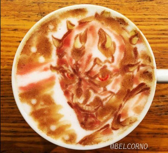 Darth Maul Star Wars Latte Art