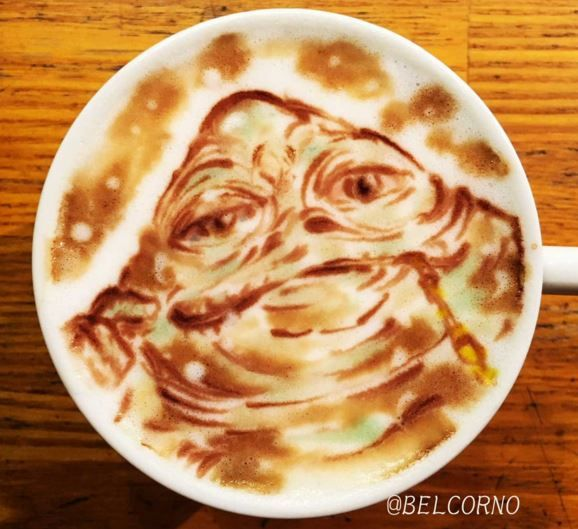 Jabba the Hutt Star Wars Latte Art