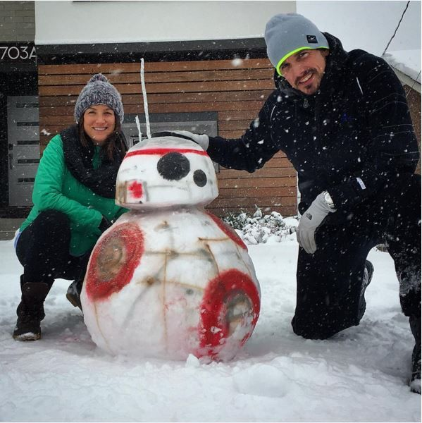 Star Wars BB-8 Snow Sculpture
