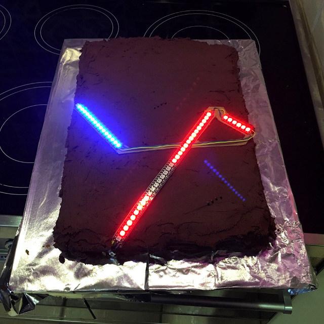 Star Wars Cake LEDs
