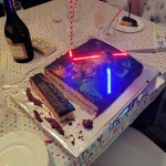 Star Wars: The Force Awakens Cake With Illuminated Lightsabers