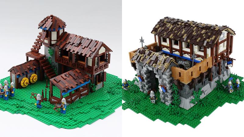 LEGO Age of Empires II Archery Range and Barracks