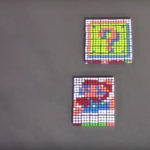 Super Mario Stop Motion Video Made With Rubik's Cubes