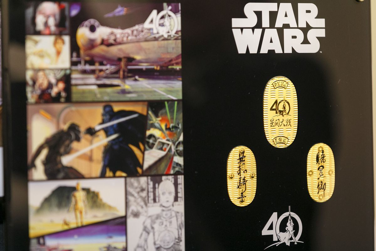 Solid Gold Star Wars Coins