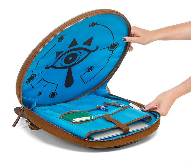 Zelda Breath of the Wild Shield Backpack Inside