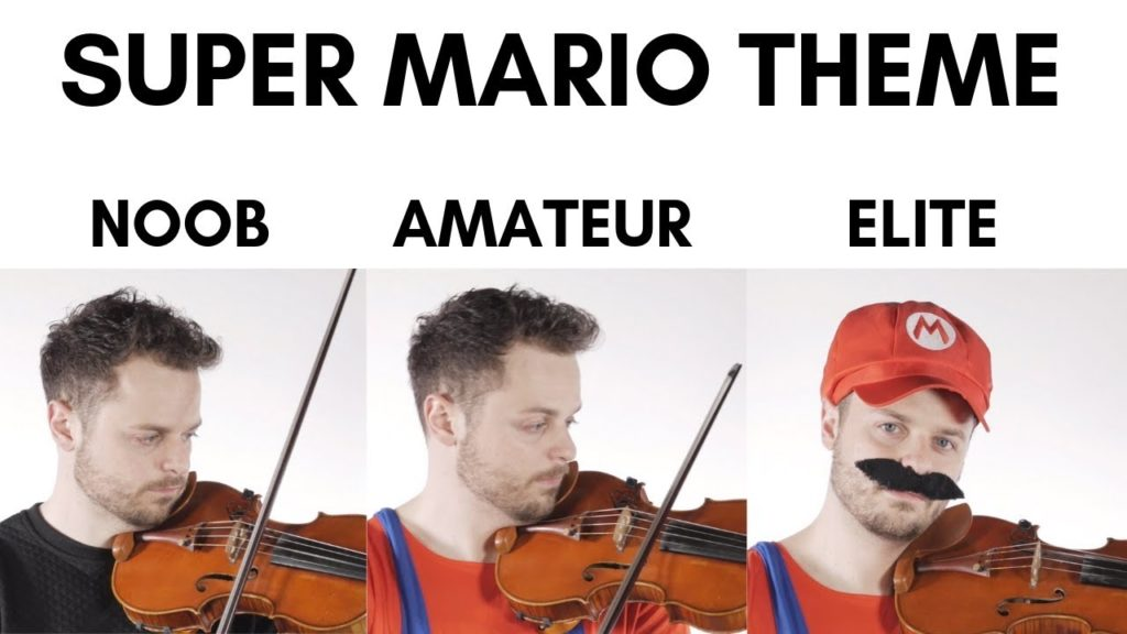 Super Mario Bros Theme Played on Violin