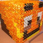 Minecraft Inspired 21,600 Domino Cube Being Built Then Destroyed