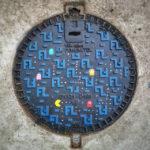 Pac-Man Manhole Cover Art