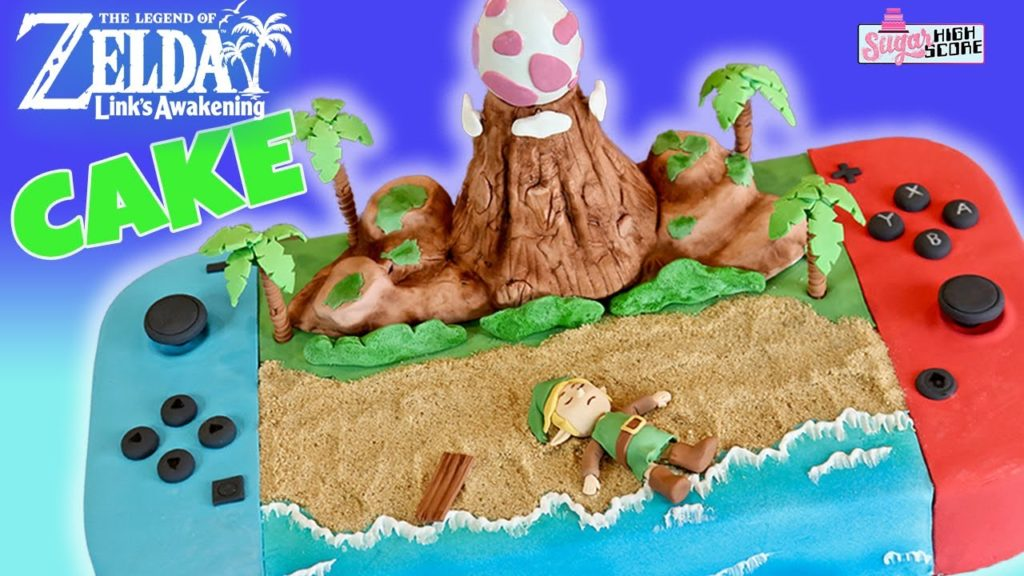 Link's Awakening Nintendo Switch Cake
