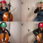 Super Mario Bros Music Played With 3 Cellos and egg shaker