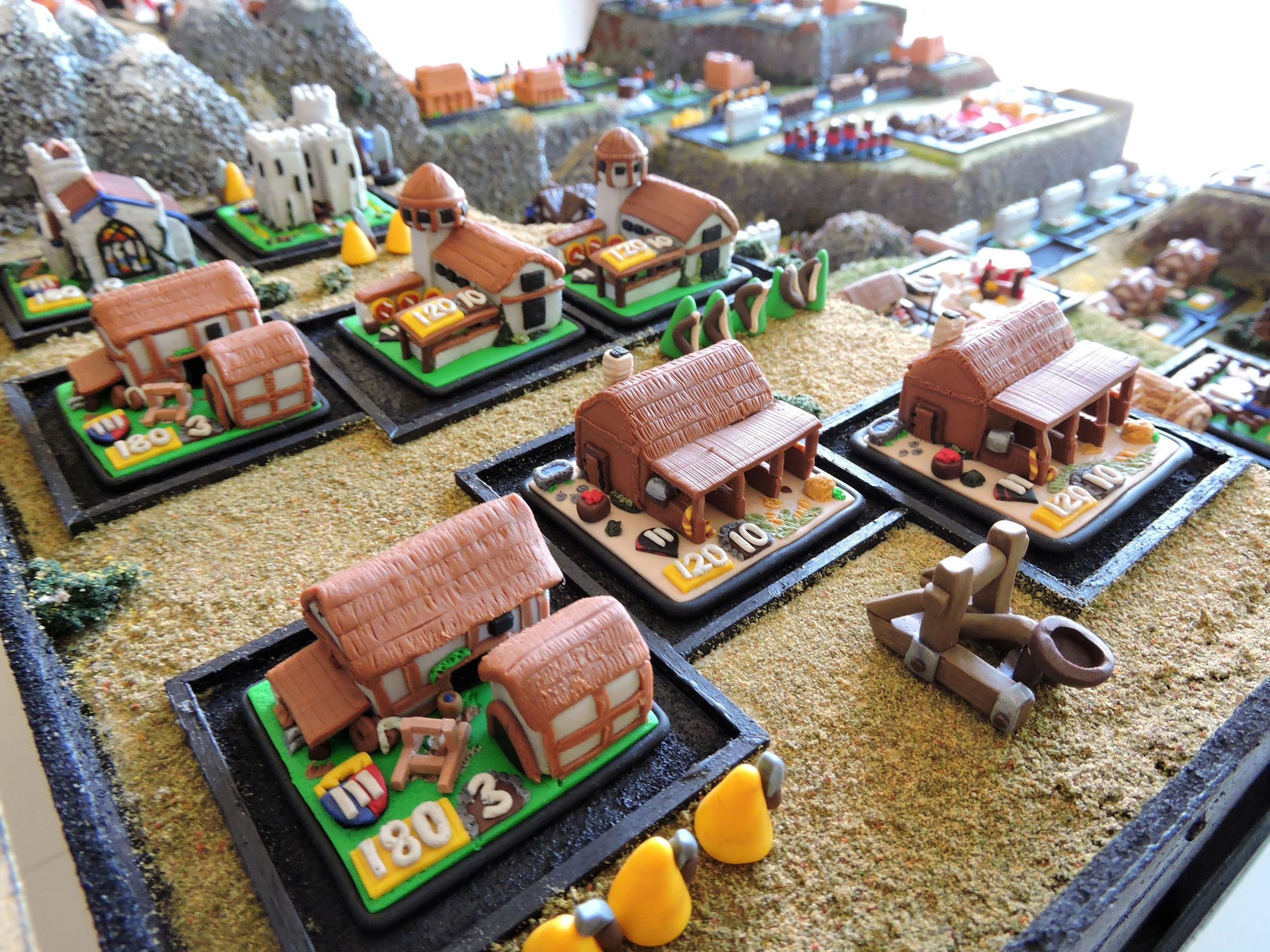Age of Empires Board Game Battle Archery Range Stables and Siege Workshops