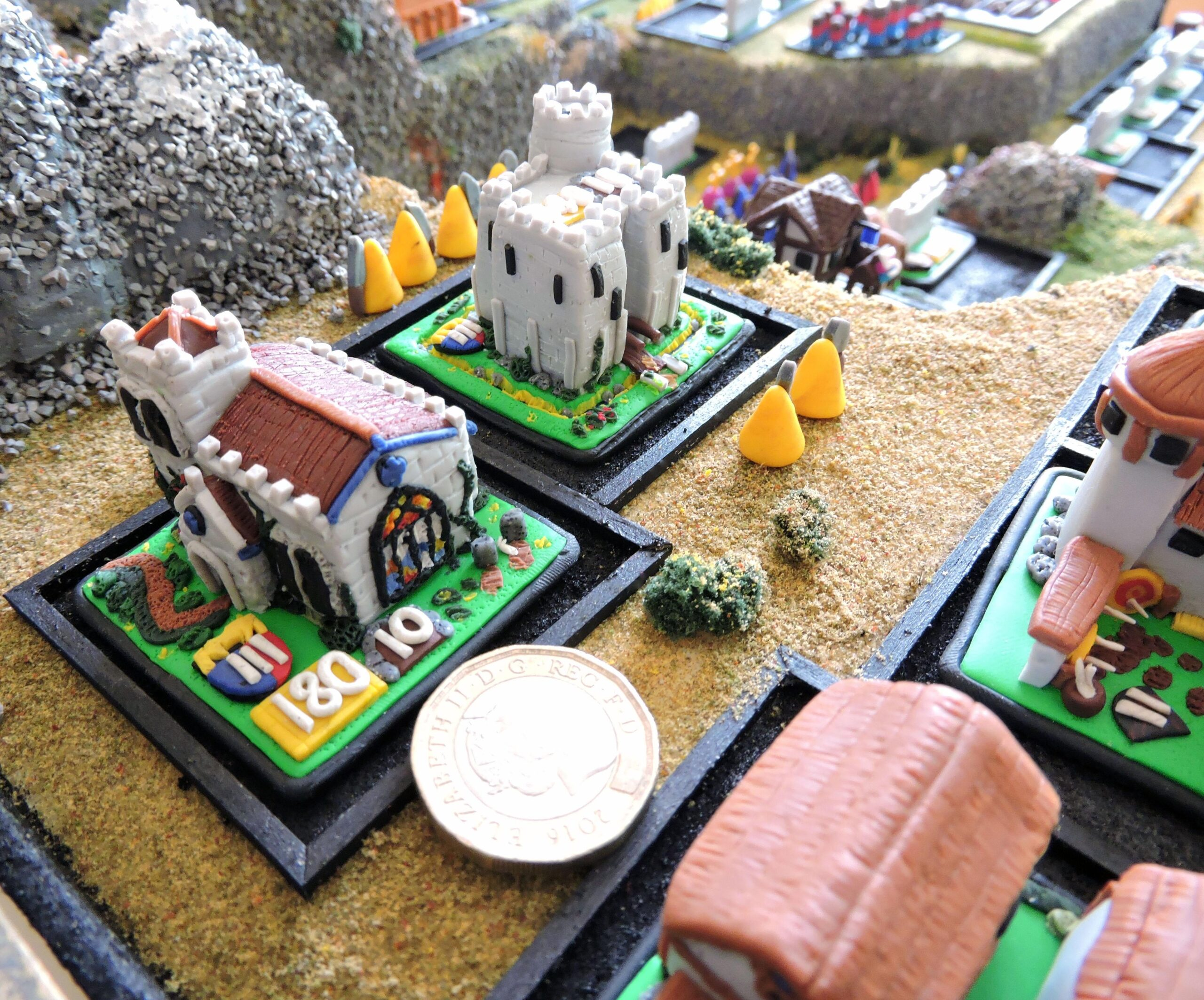 Age of Empires Board Game Monastery and Castle