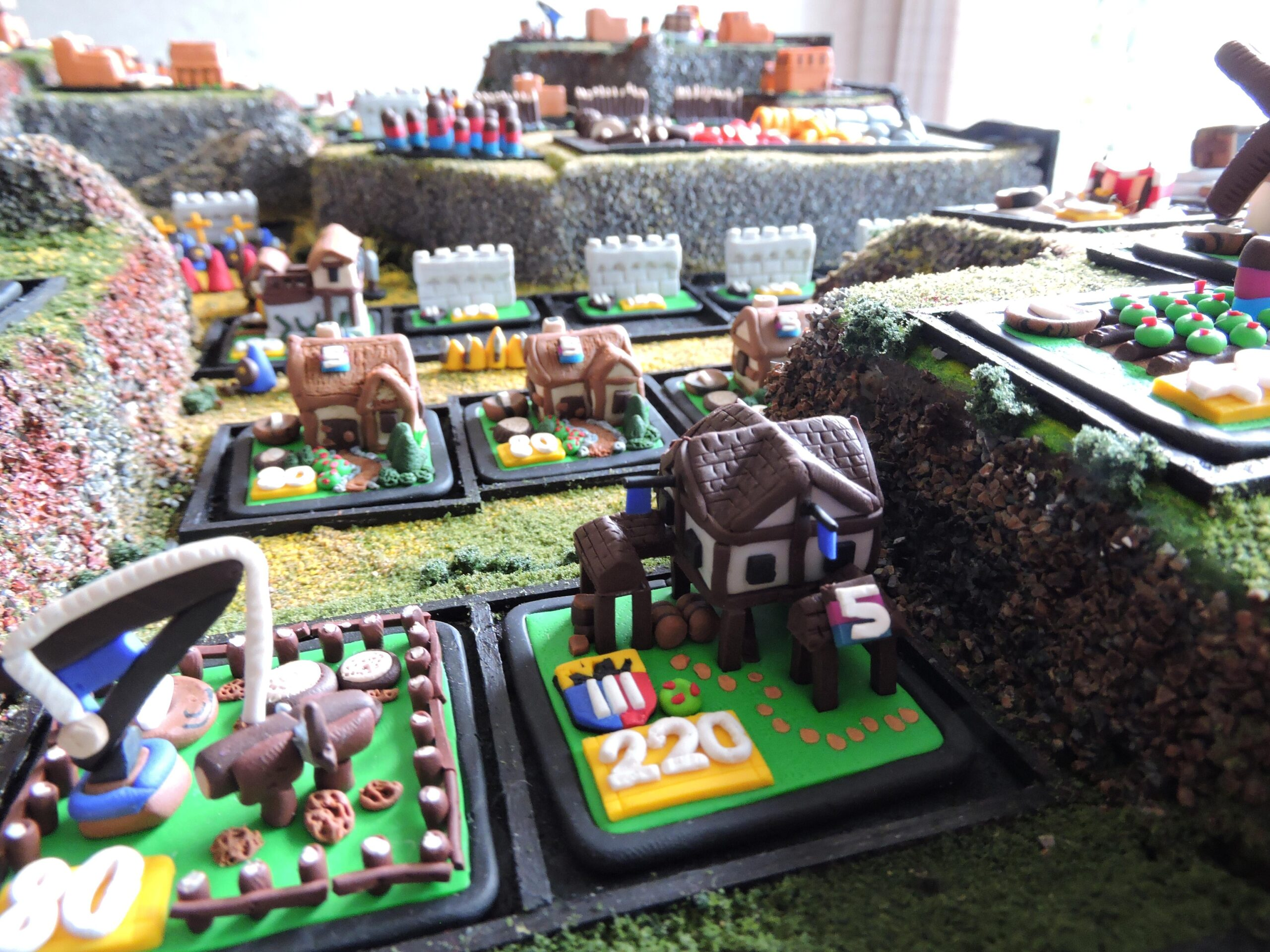 Age of Empires Board Game Town Center Houses and Lumber Yard