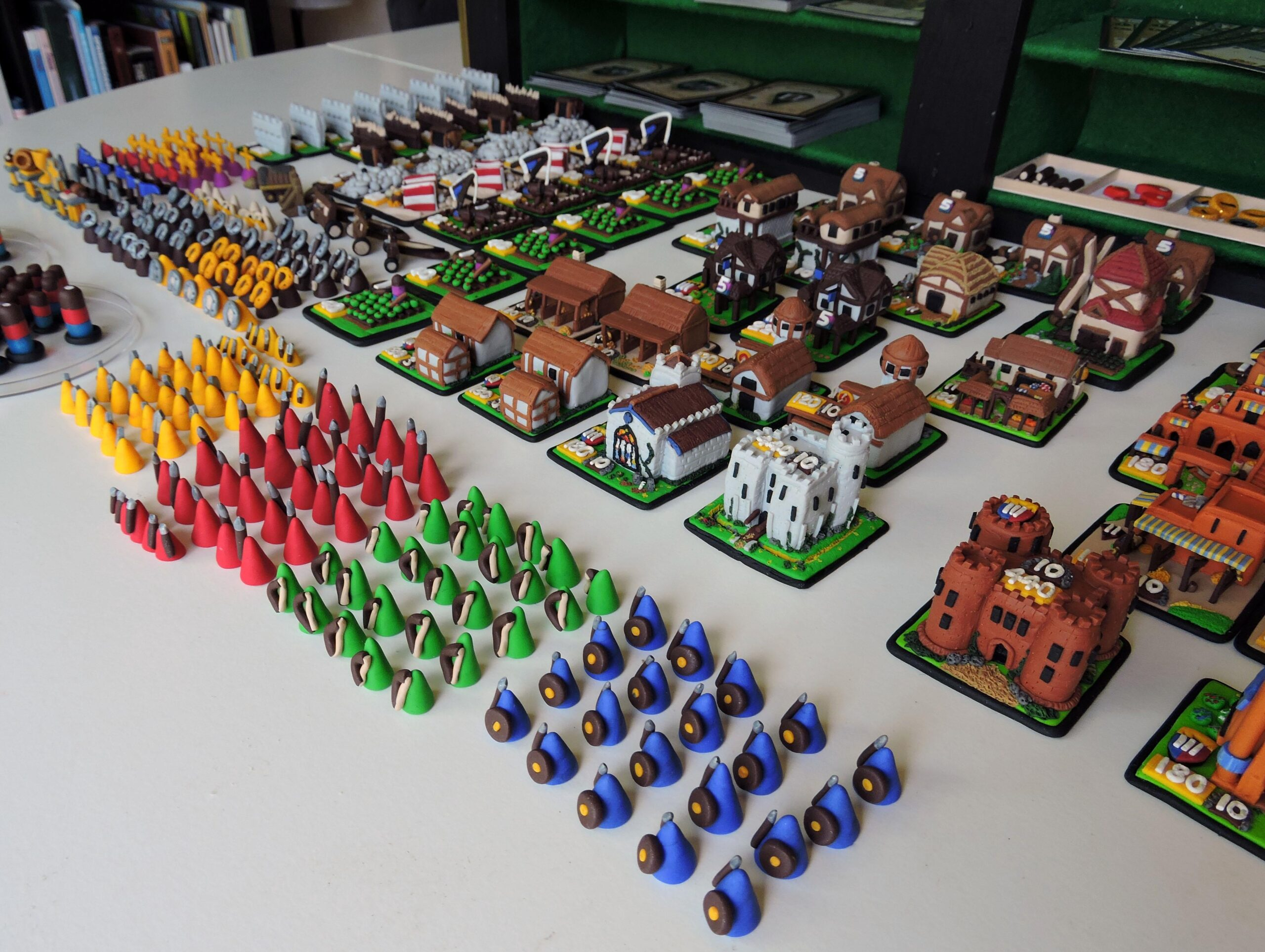 Age of Empires Board Game Units and Buildings