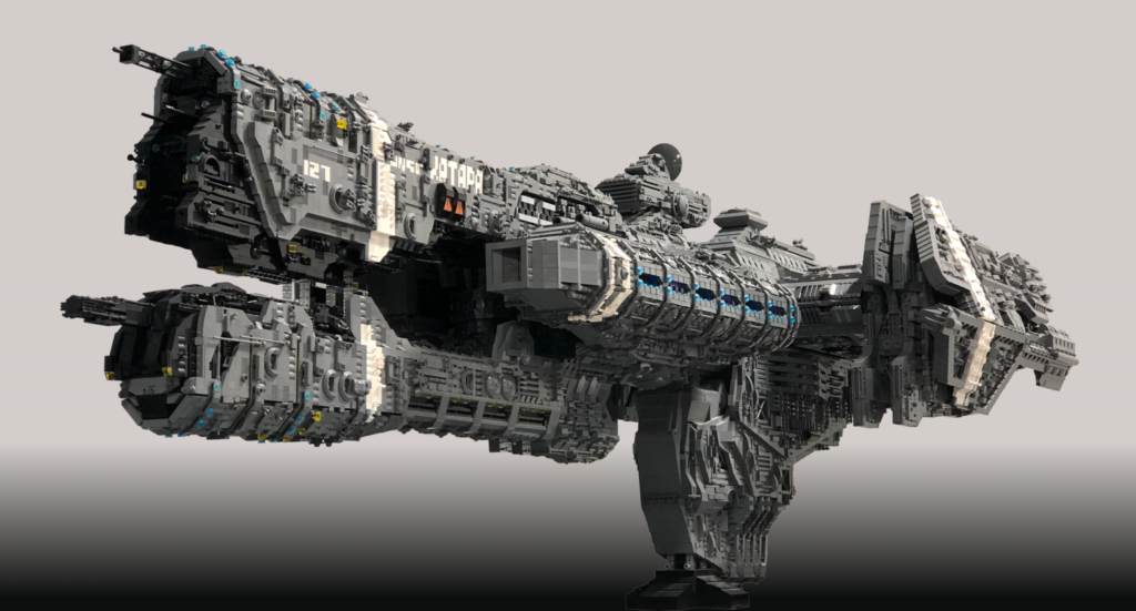 Halo Frigate Made From 25000 LEGO Bricks