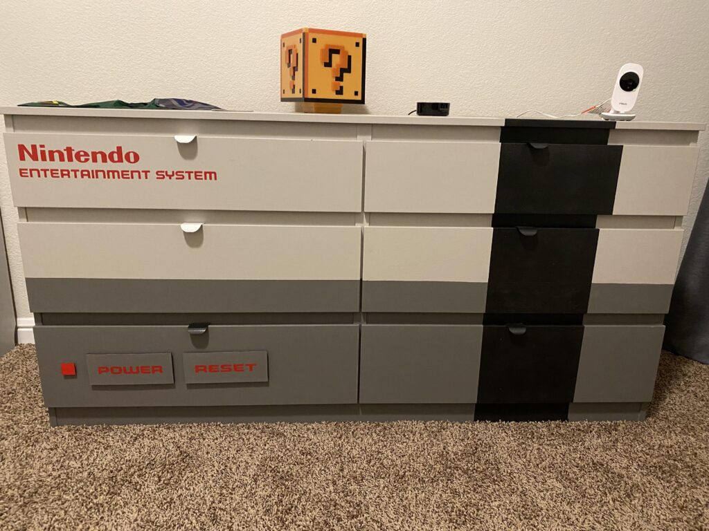 Painted NES Dresser