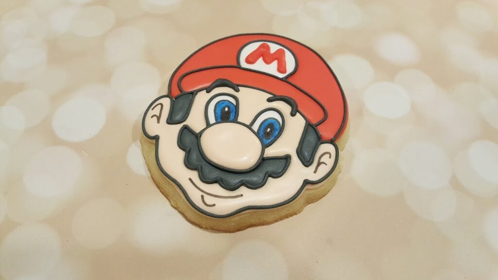 Frosted Super Mario Sugar Cookie